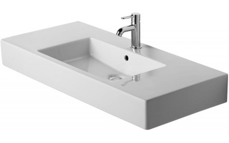 Umyvadlo nábytkové Duravit bez otvoru Vero 105x49 cm bílá+wondergliss