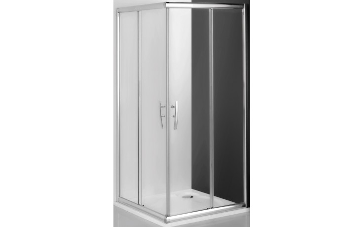 ROLTECHNIK PROXIMA LINE PXS2P/800 sprchový kout 800x1850mm čtvercový, pravá část, s dvoudílnými posuvnými dveřmi, rámový, brillant/transparent
