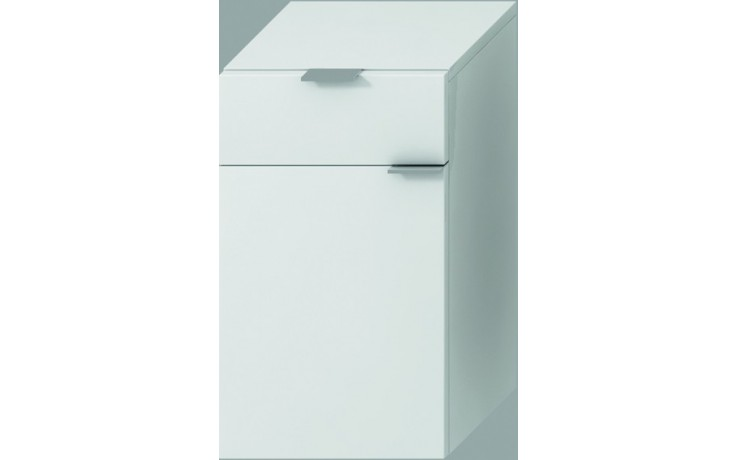 Nábytek skříňka Jika Tigo střední hluboká levá 30x51x36,3 cm bílá