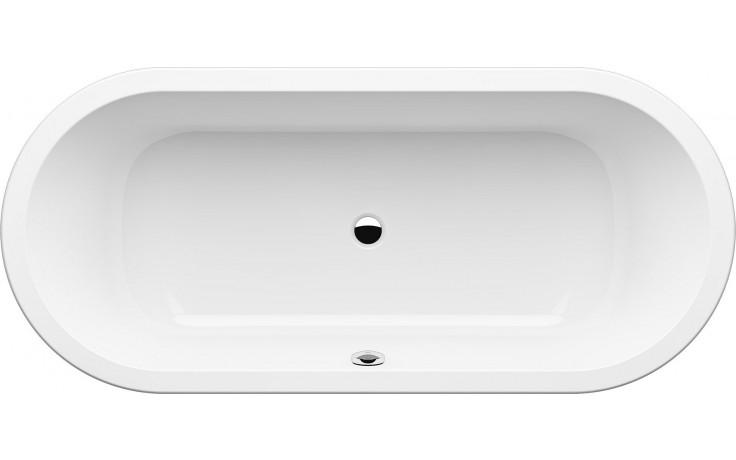 GKI MEMO oválná vana 1800x800mm středový odpad, akrylátová, bílá