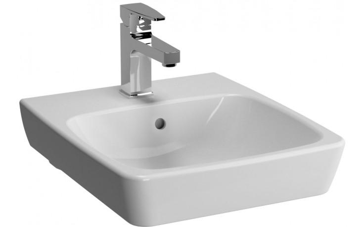 Umývátko nábytkové Vitra s otvorem Metropole bez přepadu 40x46 cm bílá