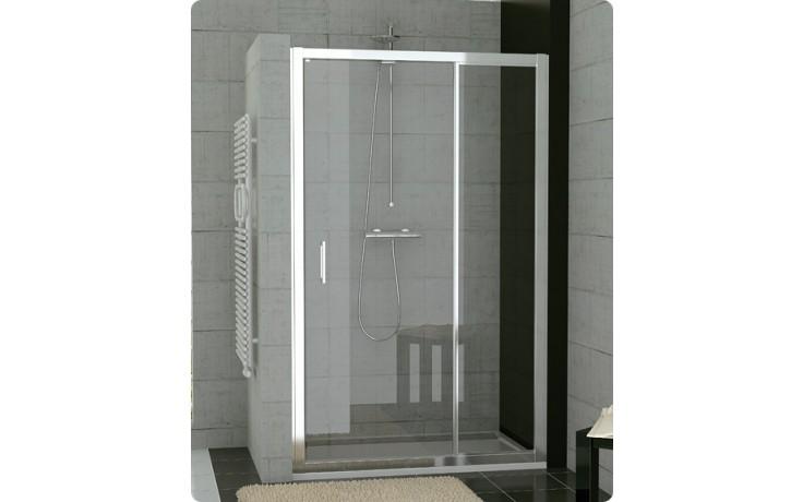 Zástěna sprchová dveře Ronal sklo TOP-line 1200x1900 mm matný elox/čiré AQ