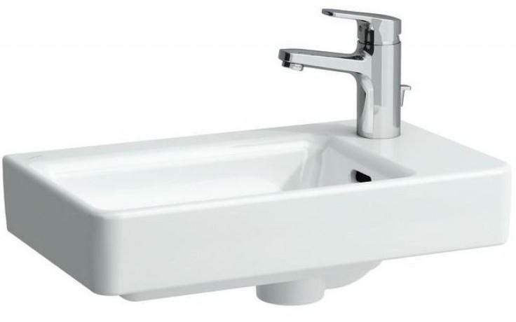 LAUFEN PRO S umývátko asymetrické 480x280mm bez otvoru, pravé, bílá