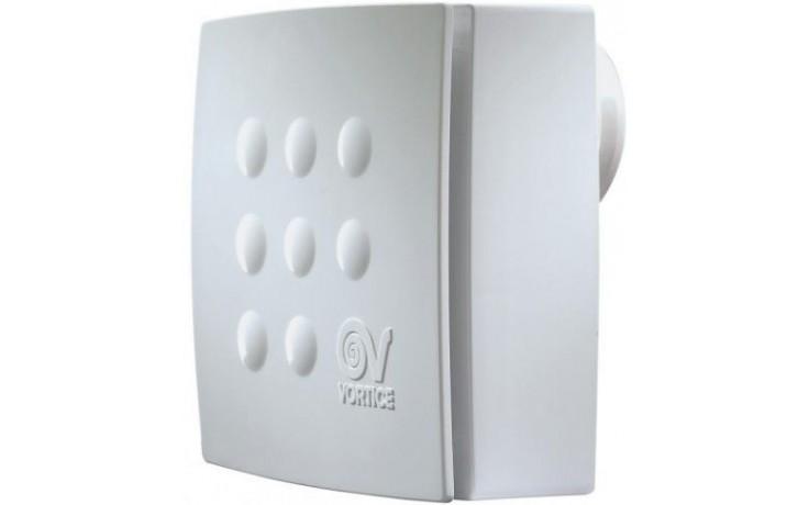 VORTICE VORT QUADRO MICRO 100 T HCS radiální ventilátor 20-28W s časovým doběhem, nastavitelná vlhkost, nástěnný, bílá