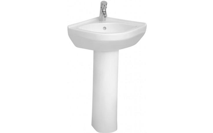 Umývátko rohové Vitra bez otvoru S50 40x40 cm bílá