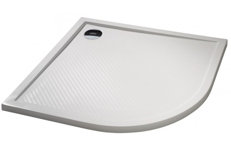 Vanička litý mramor Huppe čtvrtkruh Purano 90x90cm bílá