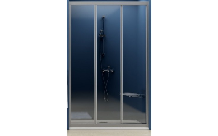 RAVAK SUPERNOVA ASDP3 sprchové dveře 970-1010x1880mm posuvné, třídílné, satin/pearl 00VA0U0211