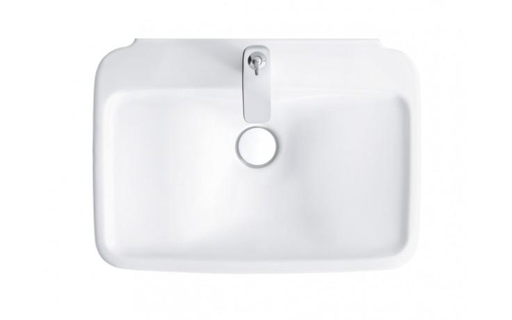 Umyvadlo nábytkové Duravit bez otvoru Pura Vida na desku 69,5x52,5cm bílé