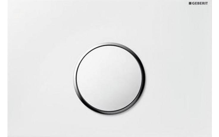 GEBERIT SIGMA 10 ovládací tlačítko 24,6x16,4cm, bílá/chrom lesk 115.758.KJ.5