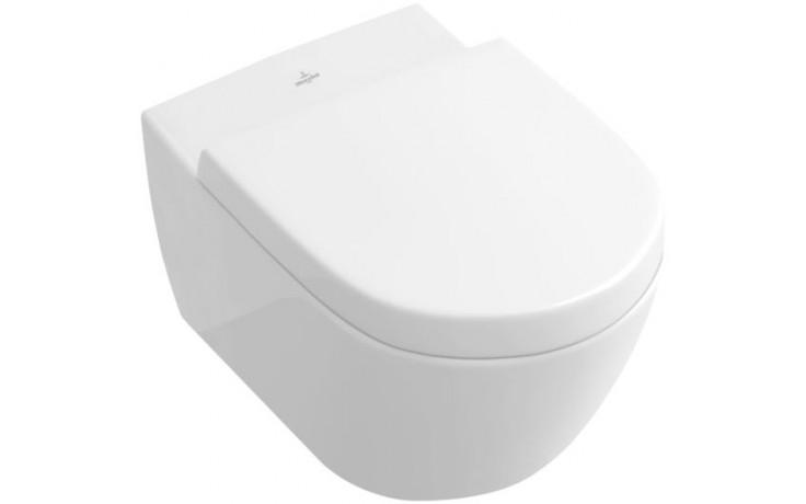 VILLEROY & BOCH SUBWAY 2.0 klozet 370x560mm s hlubokým splachováním, Bílá Alpin 56001001