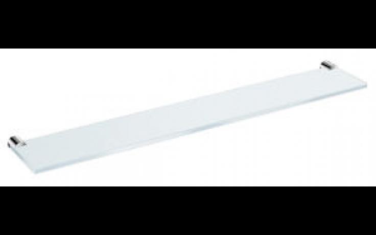JIKA BASIC skleněná polička 570x100mm, včetně držáků, chrom