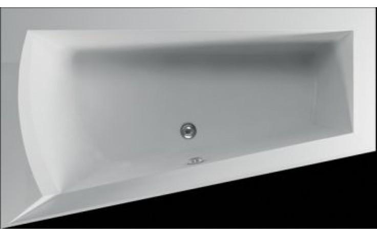 Vana plastová Teiko tvarovaná Nera 160 L 160x100x51cm bílá