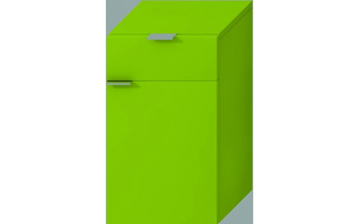 JIKA TIGO střední hluboká skříňka 300x363x510mm pravá, zelená 4.5520.3.021.156.1