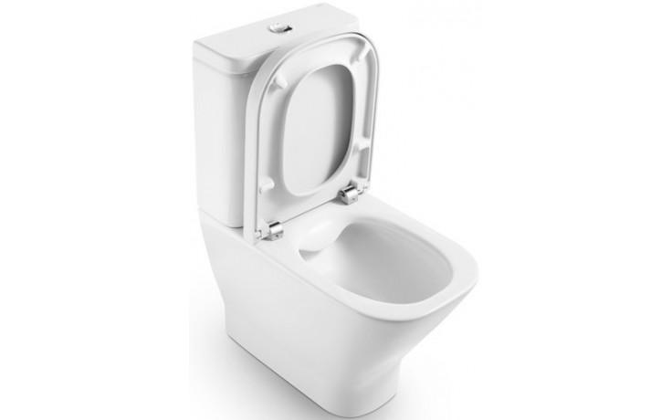 ROCA THE GAP RIMLESS WC mísa kapotovaná kombi Compact 365x790mm hluboké splachování, vario odpad, bílá 734273700H