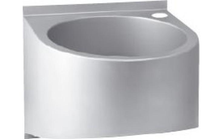 AZP BRNO AUM 015.TVB umyvadlo 435x380mm, s termostatickým ventilem, závěsné, kulaté, nerez