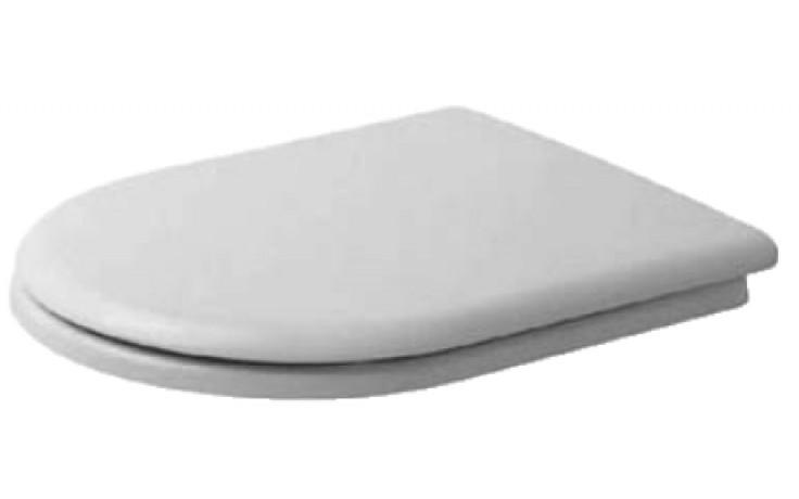 Sedátko WC Duravit duraplastové Happy D závěsy ušlechtilá ocel  bílá