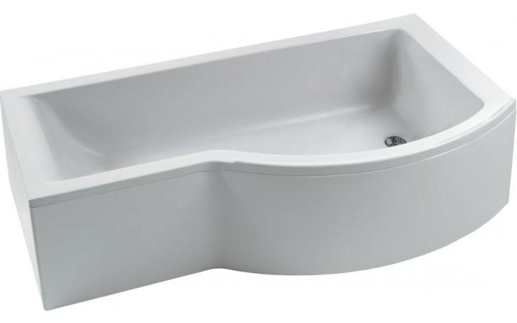 IDEAL STANDARD CONNECT vana 1700x900/700mm s rozšířenou zónou pro sprchování, akrylátová, pravá, včetně přepadu Ideal Waste, bílá E020401