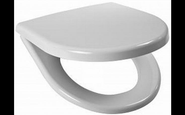 JIKA LYRA PLUS klozetové sedátko s poklopem, duroplastové, s nerezovými úchyty, bílá