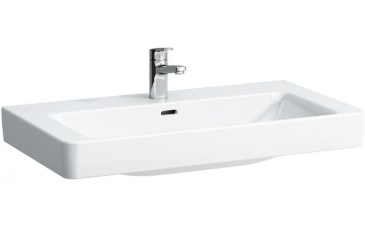Umyvadlo nábytkové Laufen s otvorem Pro S 85 cm bílá-LCC