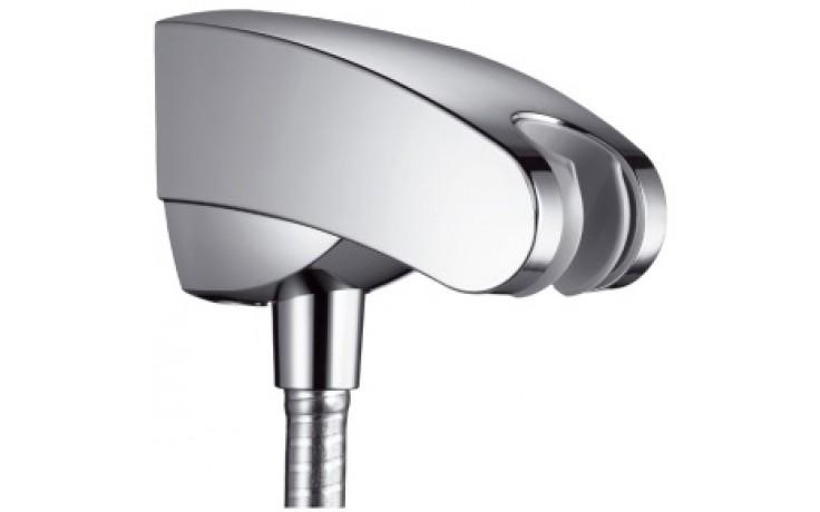 HANSGROHE PORTER'E sprchový držák se zabudovanou přípojkou pro sprchovou hadici 67mm chrom 27507000