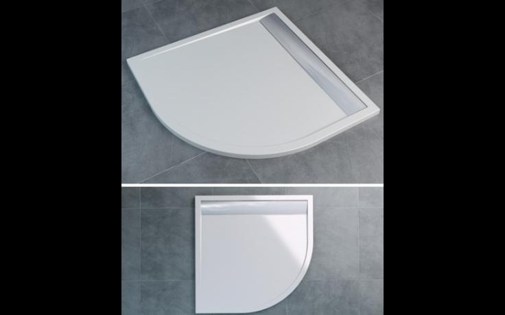 SANSWISS ILA WIQ vanička 900x900x30mm čtverec, včetně sifonu a krytu, bílá/aluchrom