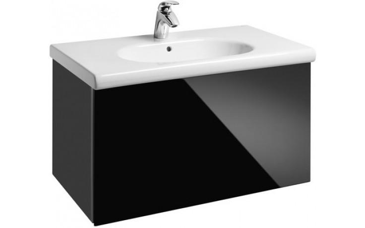 Nábytek skříňka s umyvadlem Roca Unik Meridian 82,8x50,5x46,3 cm černá lesk