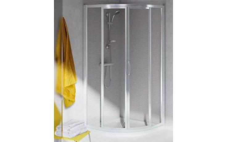 Zástěna sprchová čtvrtkruh Ideal Standard plast Tipica R/90x90 T 2353 YB 900x1850 mm Silver Brill/Sintetico matt