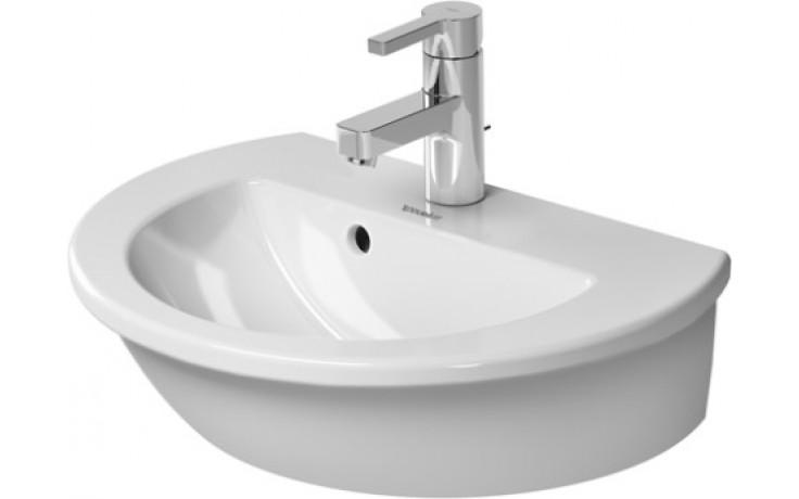 Umývátko klasické Duravit s otvorem Darling New s přetokem 47x34,5 cm bílá-wondergliss