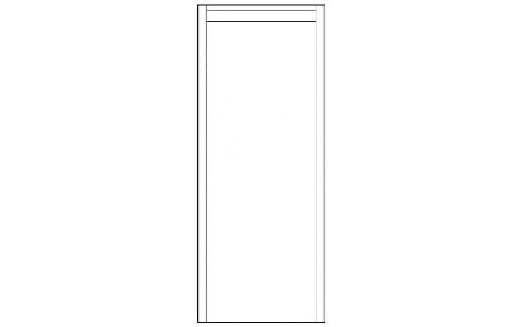 Nábytek skříňka - Concept 600 doplňková, s dvířky, pravá 35x35x87 cm šedá