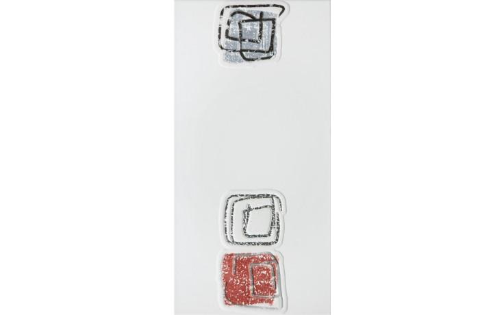 Dekor Rako Concept Monopoli 20x40 cm světle šedá