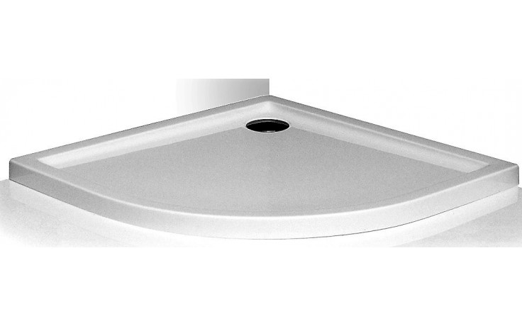 ROLTECHNIK FLAT ROUND sprchová vanička 800x800x50mm čtvrtkruhová akrylátová, bílá