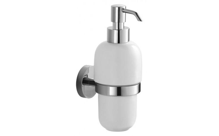 Doplněk držák s mýdlenkou Jika Mio dávkovač tekutého mýdla  chrom