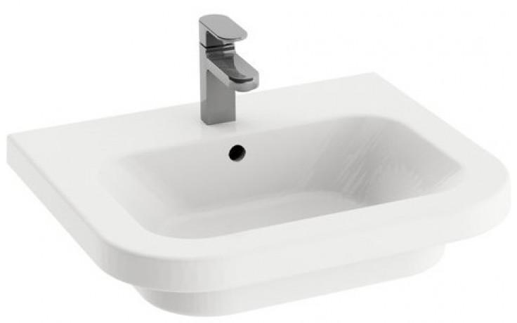 RAVAK CHROME umyvadlo nábytkové 650x490mm z keramiky, bílá XJG01165000