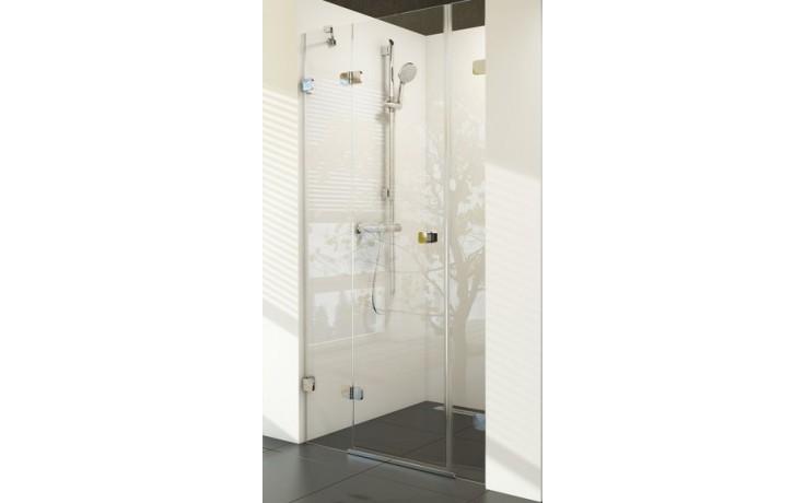 RAVAK BRILLIANT BSD3 110L sprchové dveře 1100x1950mm třídílné, levé chrom/transparent