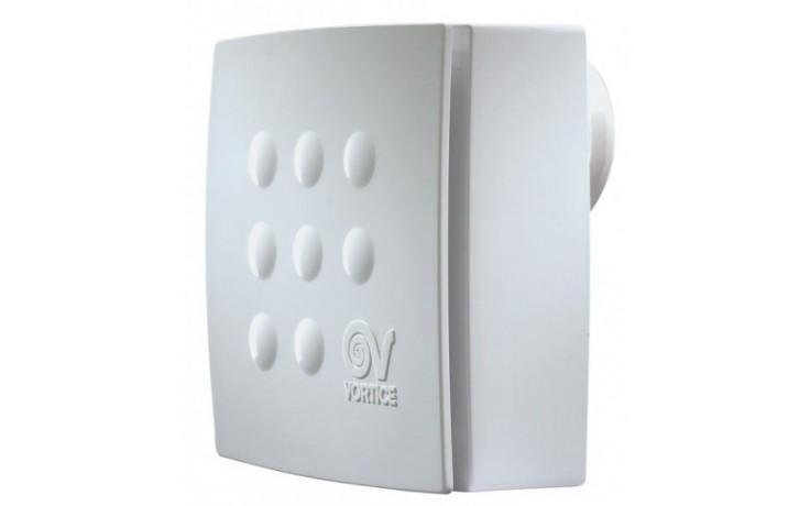 Ventilátor radiální Vortice - Vort Quadro MICRO 100 T ES stěnový s doběhem 100 bílá