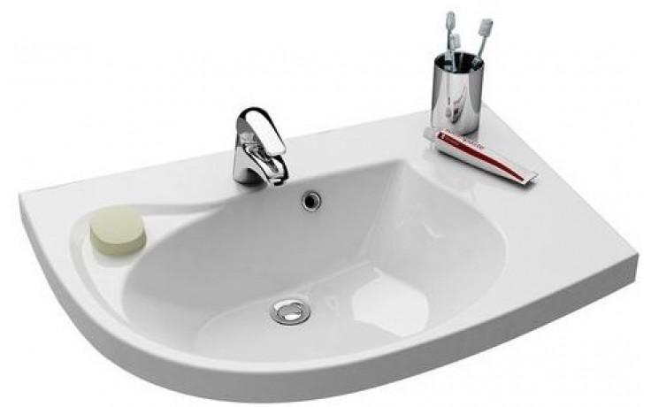 RAVAK ROSA COMFORT speciální umyvadlo nábytkové 780x550x160mm z litého mramoru, pravé s otvorem, bílá