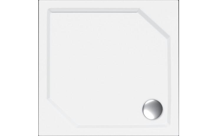Vanička litý mramor - čtverec Concept 100 včetně nožiček 80x80 cm bílá