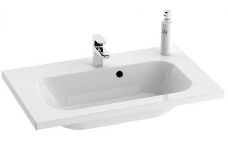 RAVAK CHROME umyvadlo nábytkové 700x490x165mm s přepadem, bílá XJG01170000