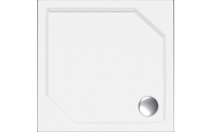 Vanička litý mramor - čtverec Concept 100 včetně nožiček 90x90 cm bílá