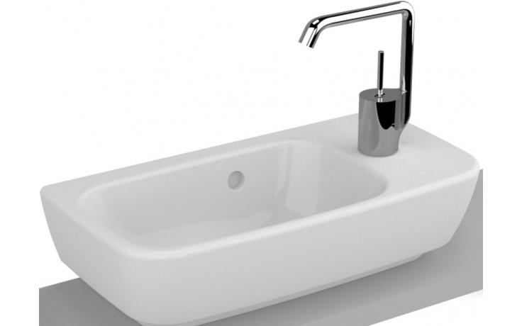 Umývátko klasické Vitra s otvorem Shift Compact s přepadem, otvor pravo 50x25 cm bílá