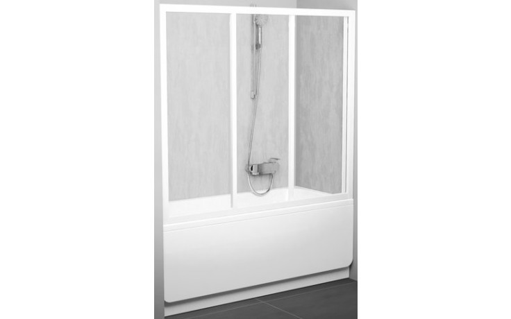 RAVAK AVDP3 180 vanové dveře 1770x1810x1370mm třídílné, posuvné, satin/rain 40VY0U0241