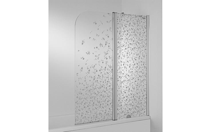 Zástěna vanová Jika - Cubito pravá 2-dílná 115x140 cm dekor