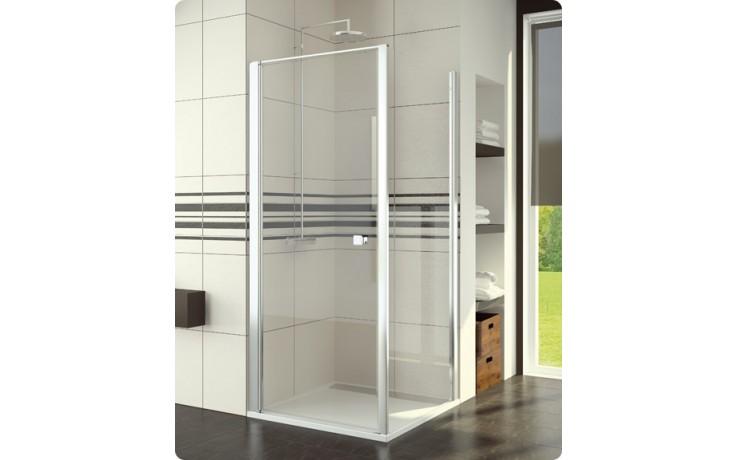 Zástěna sprchová boční Ronal sklo SWING-line 1200x1950 mm bílá/čiré AQ