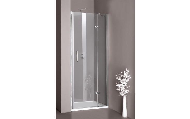 Zástěna sprchová dveře - sklo Concept 300 do niky, upevnění vlevo 800x1900mm stříbrná lesklá/čiré AP