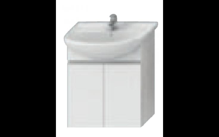 JIKA LYRA skříňka pod umyvadlo 592x315x696mm, bílá/bílý lak