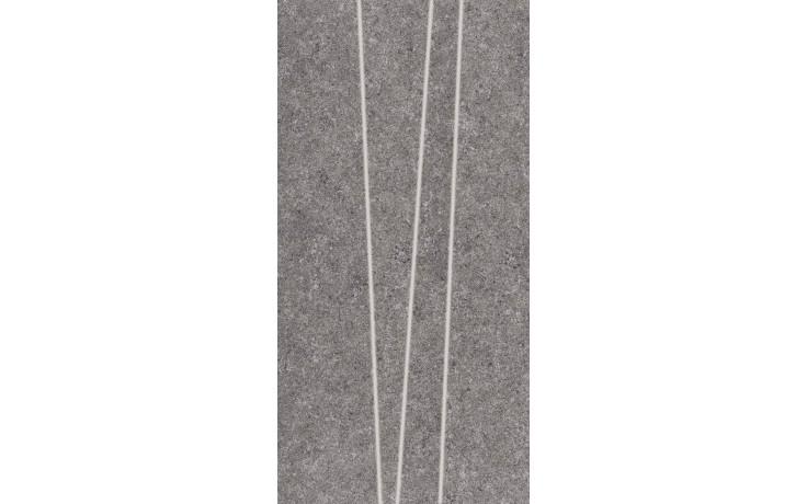RAKO ROCK dekor 30x60cm tmavě šedá DDVSE636