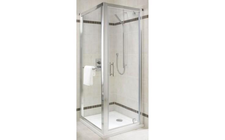KOLO GEO-6 pevná boční stěna 900x1900mm pro kombinaci s posuvnými, křídlovými a skládacími dveřmi, stříbrná lesklá/čiré sklo GSKS90222003