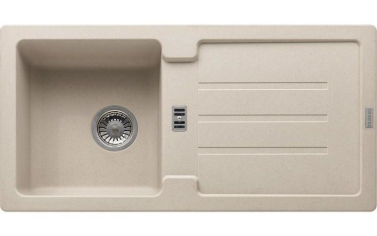 FRANKE STRATA STG 614 dřez 860x435mm s odkapávačem, Fragranit DuraKleen Plus/sahara