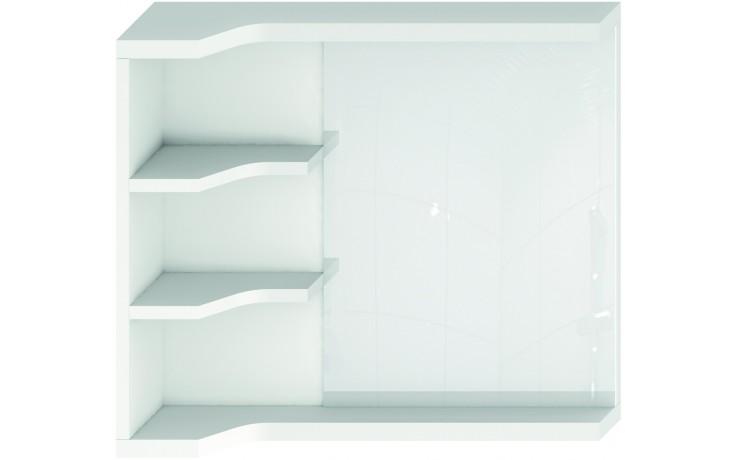 JIKA MIO zrcadlo s policemi 640x150mm pravé/levé bílá