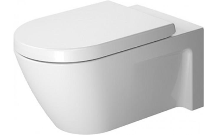DURAVIT STARCK 2 závěsný klozet 375x620mm s hlubokým splachováním, bílá/wonder gliss 25330900001